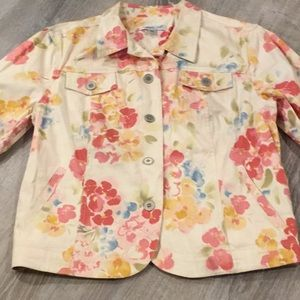 🌸🌺 Cute Floral Jean Style Jacket~~🌺🌸